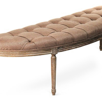 Hugo Curved Bench, Copper, Entryway Bench, Bedroom Bench