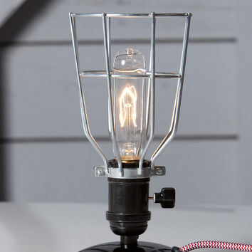 Industrial Wire Cage Desk Lamp - Vintage Style Light