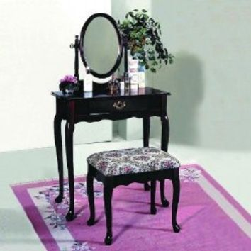 Amazon.com: Cherry Vanity Set by Crown Mark: Home & Kitchen