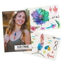 Luxe Watercolor Temporary Tattoo Sheets