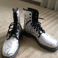 Super Rare Vintage Gold and Lace Doc Martens