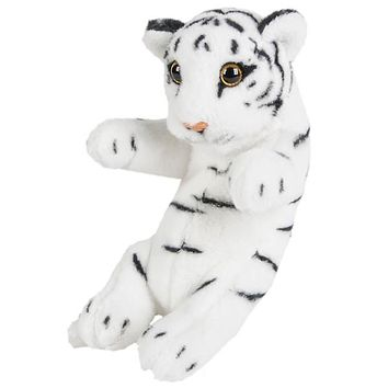 "8"" Small Baby White Tiger Cub Stuffed Animal Plush Floppy Zoo Safari Cubs Collection"
