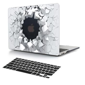 New 3D Explosion Stone Design Soft Smooth Touching Hard Cover Case for New Macbook Pro 13 inch Air 11 12 with Keyboard Cover