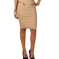 Sale- Front Zip Pencil Skirt