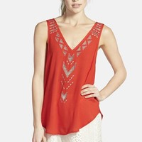 Women's ASTR Embroidered Cross Back Tank