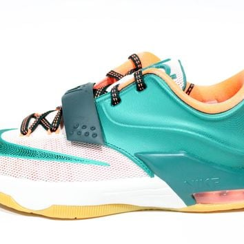 Nike Youth's KD VII GS Green/White Basketball Shoes 669942 301