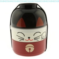 Kotobuki Lucky Cat Bento Set:Amazon:Kitchen & Dining
