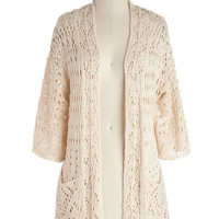 ModCloth Long 3 Breezy Beach Cardigan
