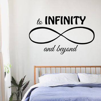 Wall Decals Love Quote To Infinity And Beyond Infinity Sign Words Vinyl Decal Sticker Bedroom Interior Design Art Mural Decor KG697