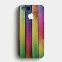 Colorful Wood Background iPhone SE Case