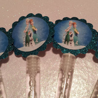 Frozen Fever Inspired Bubble Wands/ Birthday Party/ Party Favors