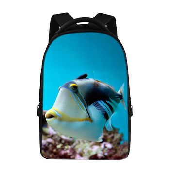 Fish pattern prints Backpacks For Teens Computer Bag Fashion School Bags For Primary Schoolbags Fashion Backpack Best Book Bag