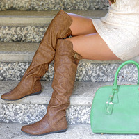 High In The Sky Boots: Brown | Hope's