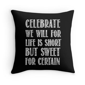 Dave Matthews Band Pillow Cover, Cushion Cover, Decorative Pillow, Song Lyrics, Black, Quote, Typography