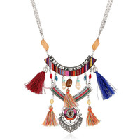 Charm Tassel Boho Necklace