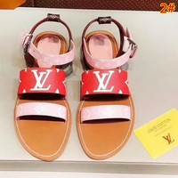 LV New fashion high quality sandals slippers shoes women 2#