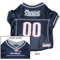 New England Patriots NFL Dog Jersey Extra Small