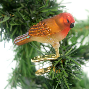 Old World Christmas MINI SONGBIRD Happiness Joy Spring 18042 Female Carduba