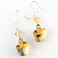 Blueberry Muffins Dangle Earrings