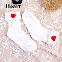 1 pair New Arrival Beauty Casual Embroidered Cotton Socks Fashion Women's Socks Soft Warm Spring Autumn Sock