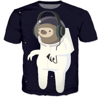 Jammin' Space Sloth T-Shirt