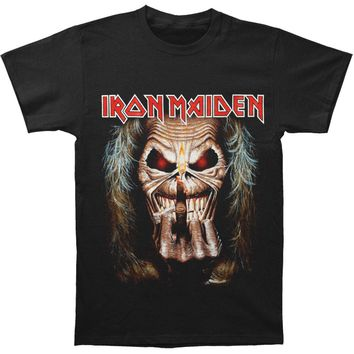 Iron Maiden Men's  Eddie Candle Finger T-shirt Black Rockabilia