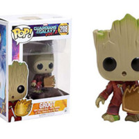 Funko - POP! Guardians of the Galaxy Baby Amazing Groot w Plate Figure 208 a F01