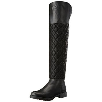 Penny Loves Kenny Womens Dion Faux Leather Fold-Over Riding Boots