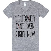Can't Even Math Shirt-Female Athletic Grey T-Shirt