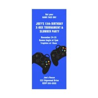 Video Game Controller Birthday Invitation 9 x 4 from Zazzle.com