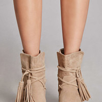 Yoki Genuine Suede Ankle Boots