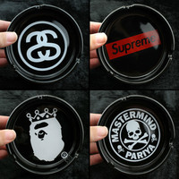 Round Ceramic Fashionable Ashtray Mastermind MMJ Stussy Supreme Skull Derivatives LOGO Creative Smoking Gift