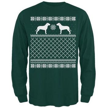 DCCKJY1 Pit Bull Ugly Christmas Sweater Forest Adult Long Sleeve T-Shirt