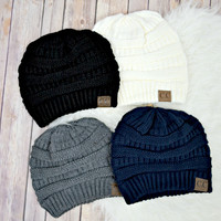 C.C. Solid Knit Beanie