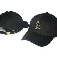 Owl Octobers OVO Hip Hop Dad Cap Strapback Black & Gold