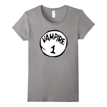 Vampire 1 Scary Count Dracula Halloween Costume T-Shirt