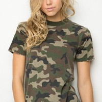 ROSALIND CAMO TOP