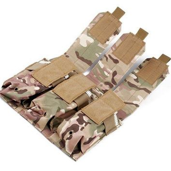 NEW Multicam Tactical Pouch Triple Pistol Magazine Pouch Holster Airsoft Military Paintball MAG Pouches Hunting Bag