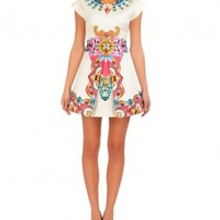 Perfume Print Box Pleat Dress- Buy Manish Arora Paris S/S'14 - RTW Online | Manisharora.com