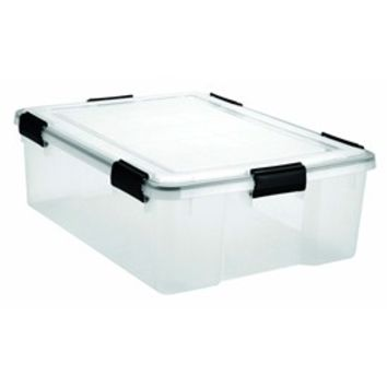 Plastic Storage Container with Lid - 41.2 Quart