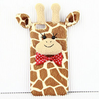 Cute Giraffe 3D Iphone Cases Custom Cover