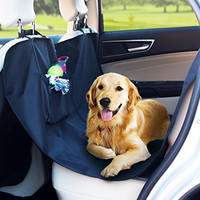 Car Seat Cover for Pets + BONUS Bag | Doubles as Hammock & Bench Seat Protector | Machine Washable, Waterproof Black SUV Truck Rear Backseat Accessories Back Non Slip Dog Barrier Bed | Extra Large Fit