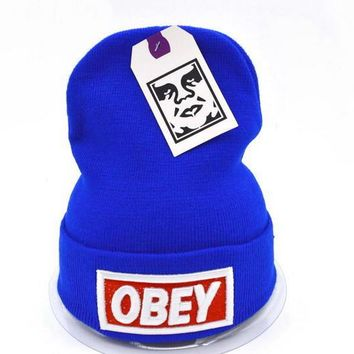 Obey Women Men Embroidery Beanies Knit Wool Hat Cap-17