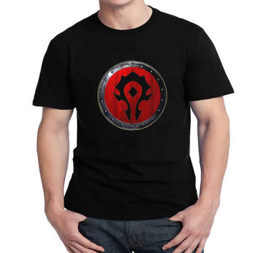 For The  Horde shield Logo Womans and Mens T-shirt Black