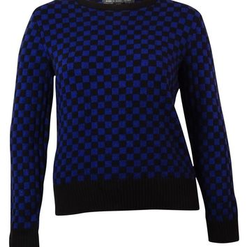 MARC Marc Jacobs Women's Long-sleeve Checkerboard-print Sweater