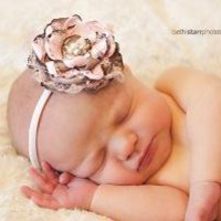 ADORABLE vintage inspired newborn headband great for by avabows