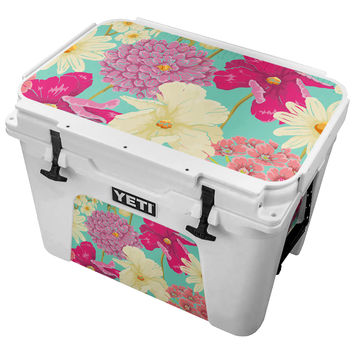 Vintage Flower Painting Skin for the Yeti Tundra Cooler