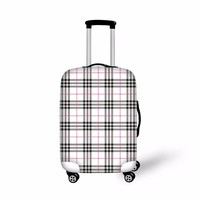 FORUDESIGNS Custom Elastic Plaid Striped Cover Travel Luggage Thick Suitcase Protective Cover Apply to 18 20 22 24 26 28 30 Inch