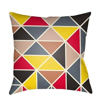 Scandanavian Pillow Cover - White, Bright Yellow, Black, Bright Red, Coral, Pale Pink, Medium Gray, Charcoal - SN008