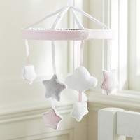 Pink Stars and Clouds Crib Mobile | Pottery Barn Kids